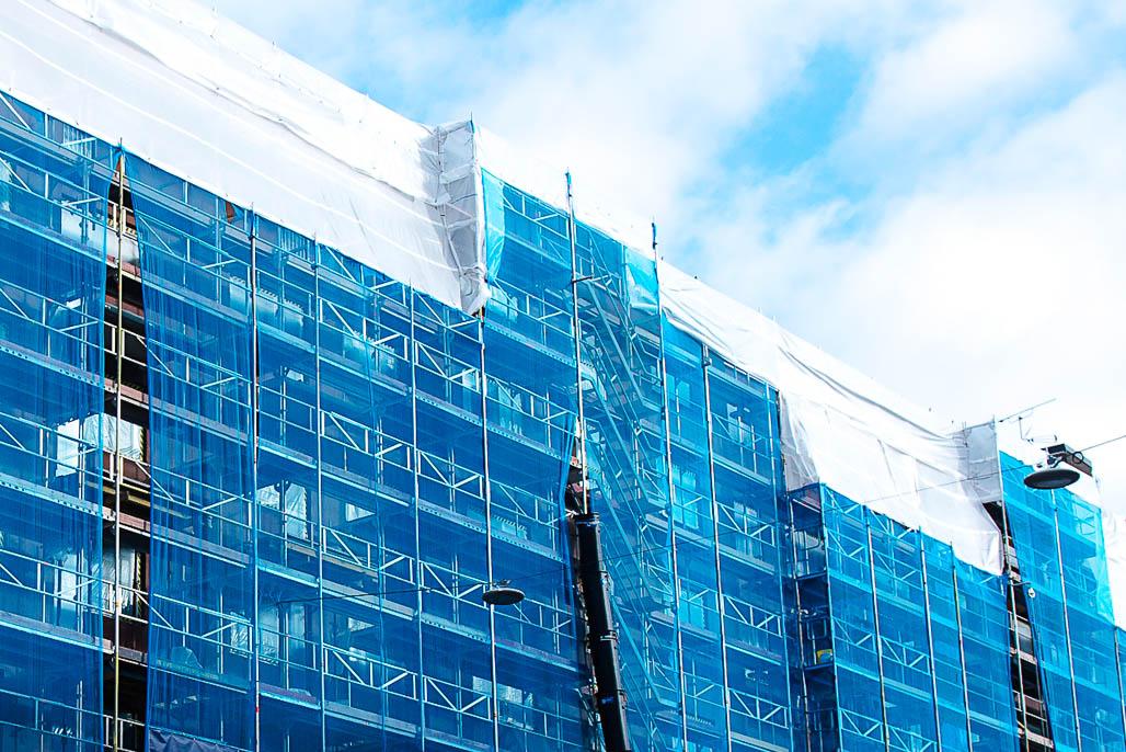 Fasadrenovering Hornsgatan, Stockholm av Stockholms Fasad & Ställnings AB